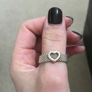Tiffany mesh heart ring